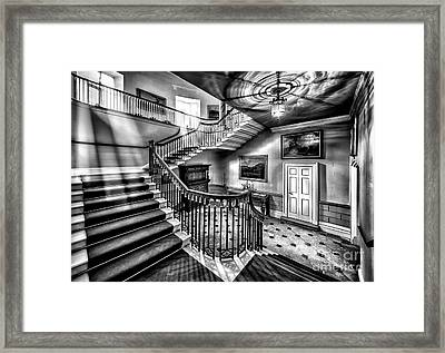 Mansion Stairway V2 Framed Print by Adrian Evans