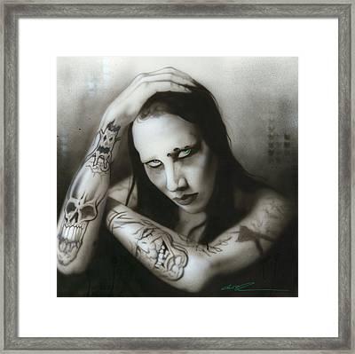 Marilyn Manson - ' Manson IIi ' Framed Print