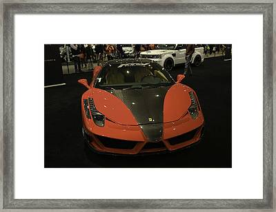 Mansory Ferrari 458 Italia Showcased At The New York Auto Show Framed Print by E Osmanoglu