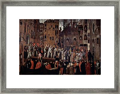 Mansueti Giovanni, Miracle Of The Relic Framed Print
