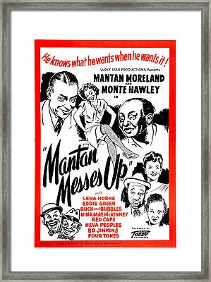 Mantan Messes Up, Us Poster, Top Framed Print by Everett
