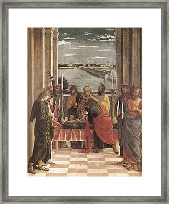 Mantegna, Andrea 1431-1506. Death Framed Print by Everett