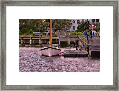 Manteo Harbor Framed Print by Allen Beatty