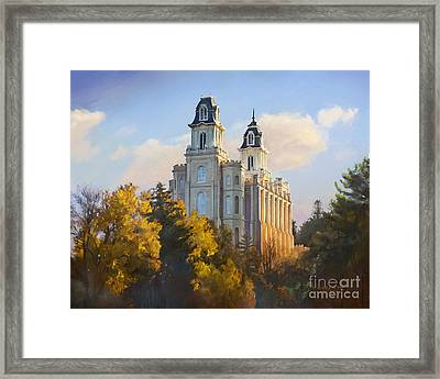 Manti Temple Framed Print