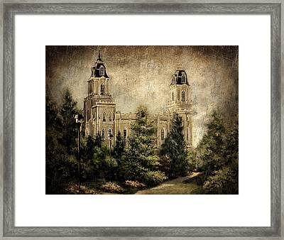 Manti Utah Temple-pathway To Heaven Antique Framed Print