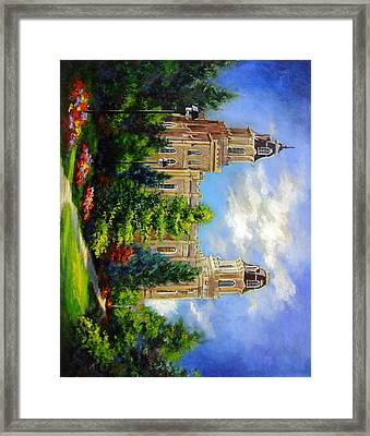 Manti Utah Temple-pathway To Heaven Framed Print