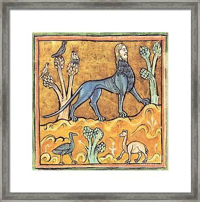 Manticore, Legendary Creature Framed Print
