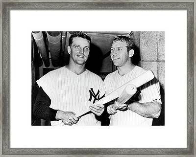 Mantle And Maris Framed Print by Underwood Archives