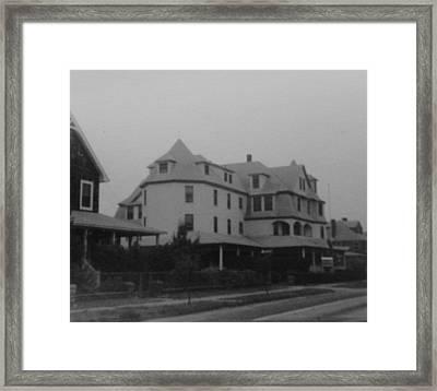 Mantoloking Victorian Mansion Framed Print by Joann Renner