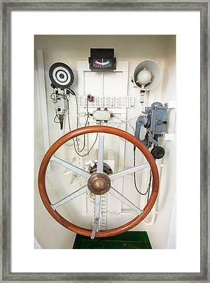 Manual Emergency Steering System Framed Print by Ashley Cooper