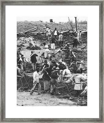 Manual Labor In China 1957 Framed Print