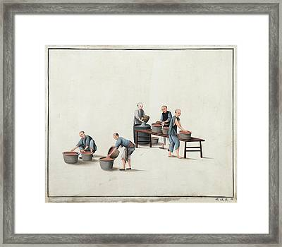 Manufacture Of Vermilion Framed Print by British Library