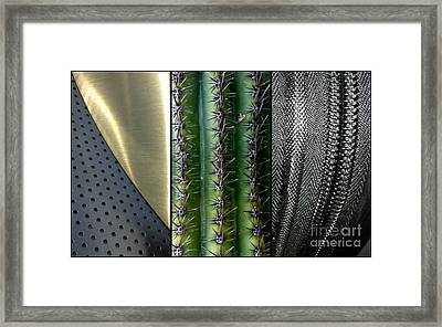 Manufactured Ouch Framed Print by Marlene Burns