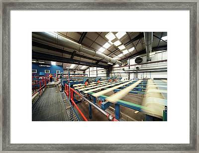 Manufacturing Of Timber Decking Planks Framed Print