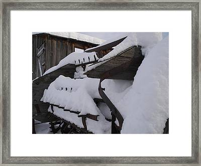 Manure Spreader Framed Print by Jenessa Rahn