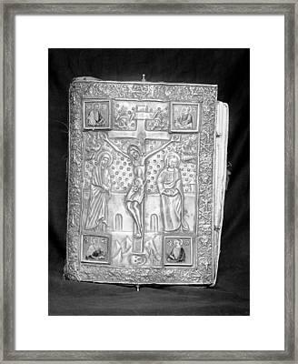 Manuscript Cover Framed Print