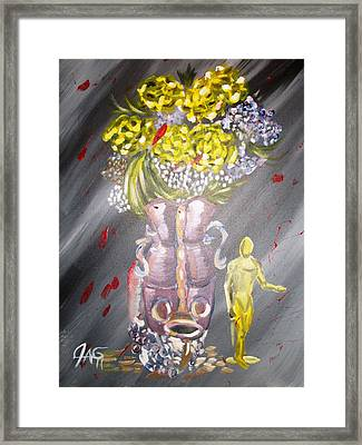 Framed Print featuring the painting Manuvase by The GYPSY And DEBBIE