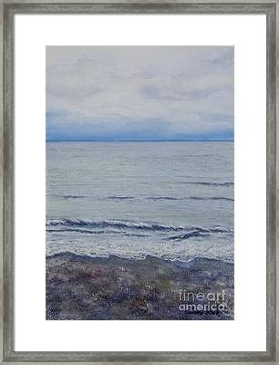 Framed Print featuring the painting Manx Mist by Stanza Widen