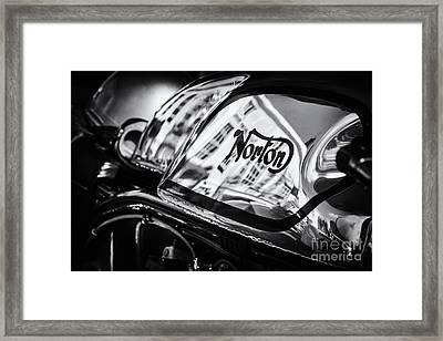 Manx Norton Monochrome Framed Print