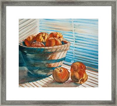 Many Blind Peaches Framed Print