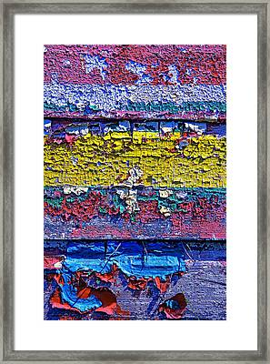 Many Colors Paint Peeling Framed Print by Garry Gay