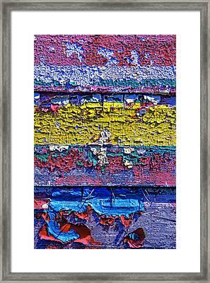 Many Colors Paint Peeling Framed Print