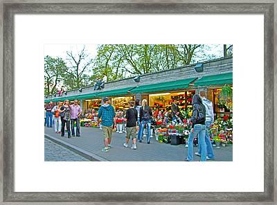 Many Flower Shops In Tallinn-estonia Framed Print by Ruth Hager