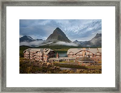 Many Glacier Hotel Framed Print by Jack Bell