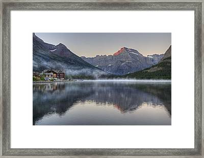 Many Glacier Hotel On Swiftcurrent Lake Framed Print