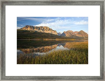 Framed Print featuring the photograph Many Glacier Reflections by Jack Bell