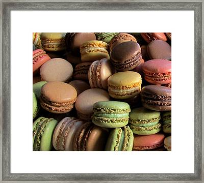 Many Mini Macarons Framed Print