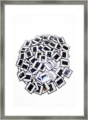 Many Old Color Slides White Background Framed Print by Matthias Hauser