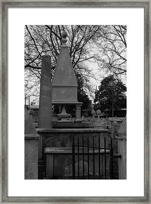 Many Tombstones Framed Print