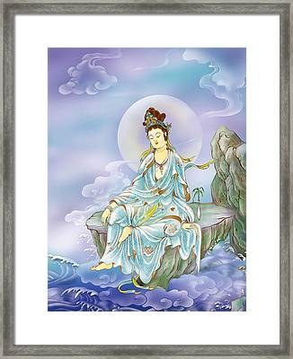 Many Treasures Avalokitesvara  Framed Print by Lanjee Chee