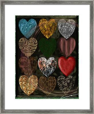 Many Types Of Love Framed Print
