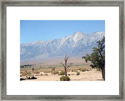 Manzanar-sierra Nevada Mountains I Framed Print