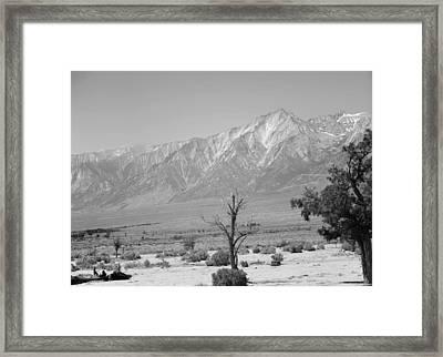 Manzanar-sierra Nevada Mountains II Framed Print