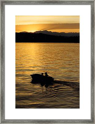 Manzanita Bay Washington Sunset Cruising Framed Print by Jack Pumphrey