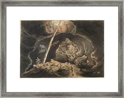 Maori Burial Cave Framed Print
