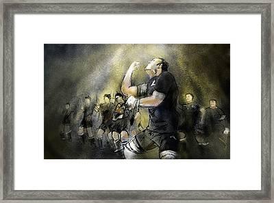 Maori Haka Framed Print