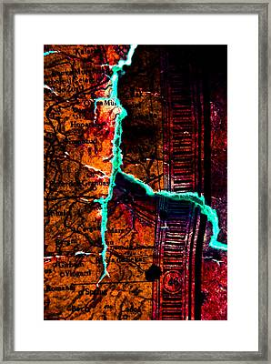 Map 01 Framed Print by Grebo Gray