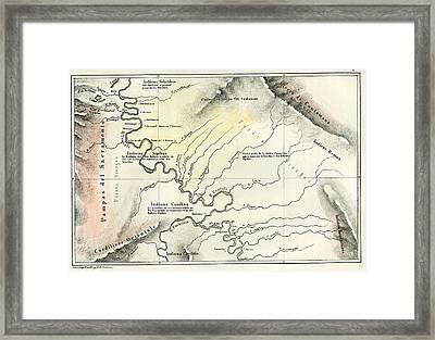Map 1869 Peru Framed Print by Peruvian School