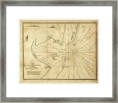 Map, Chart Of A Voyage Along The Eastern Coast Of Africa Framed Print