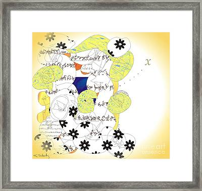 Map Framed Print by Gabrielle Schertz