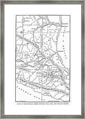 Map Mexican War Framed Print by Granger