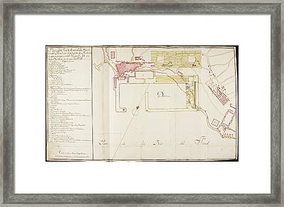 Map Of A Spanish Colonial Possession Framed Print