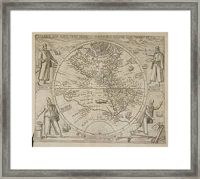 Map Of America Framed Print by British Library