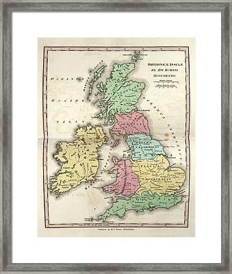 Map Of Ancient Britannia Framed Print