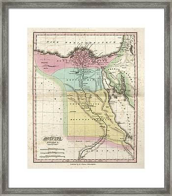Map Of Ancient Egypt Framed Print by Library Of Congress, Geography And Map Division