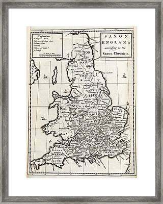 Map Of Anglo-saxon England Framed Print by Middle Temple Library